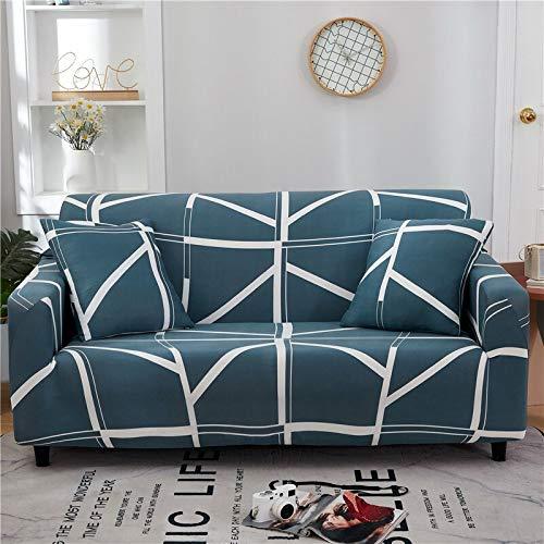 WXQY Funda de sofá Floral de poliéster, Funda de sofá retráctil para Sala de Estar, Funda de sofá elástica para Silla, Funda de sofá, Toalla, Funda de sofá A16, 2 plazas