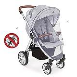 Universal Insektenschutz für Kinderwagen, Solawill Kinderwagen Moskitonetz Reißfest und Waschbar Insektenschutz für Baby Autositz und Buggy mit Gummizug und Trageöffnung