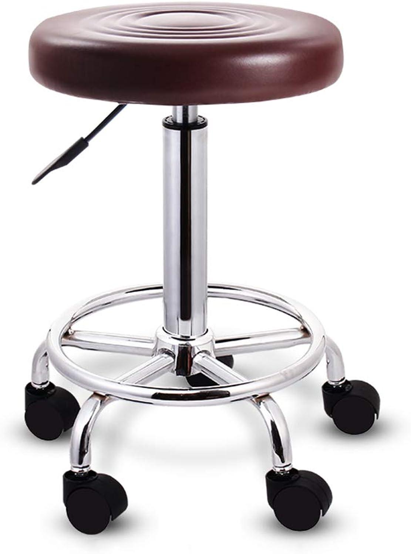 Bar Chair 360° redating Lift Bar Chair High Feet Round Bar Stool PU Leather Chair 100kg