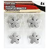 com-four® 4X Tischdeckenbeschwerer - Tischtuchgewichte aus Edelstahl - magnetische Tischtuchklammer - ca. 47 g - 7