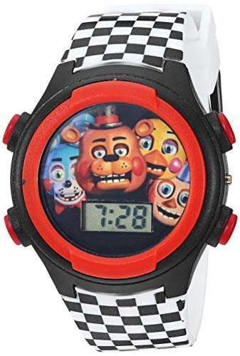 Five Nights at Freddy's Girls' Quartz Watch with Plastic Strap, Black, 19 (Model: FNF3020AZ)