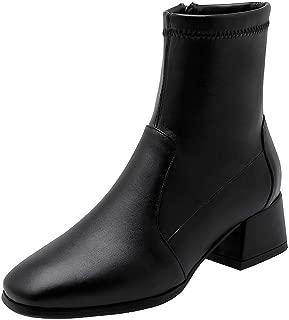 BalaMasa Womens ABS14135 Mid-Top Closed-Toe Chukka Black Pu Boots - 7 UK (Lable:42)