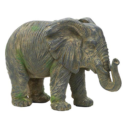 """Accent Plus Weathered Elephant Statue 17x9.75x12.25"""""""