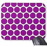 Alfombrilla de ratón Smity 30 * 25 * 0.3 cm Alfombrilla de ratón Alfombrilla de ratón de diseño de Moda y Familia Alfombrillas de Escritorio Alfombrilla de ratón de Lunares morados