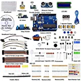 A wide variety of electronic components - The best choice for Uno beginners. UNO R3 and Breadboard & UNO R3 Holder are included.