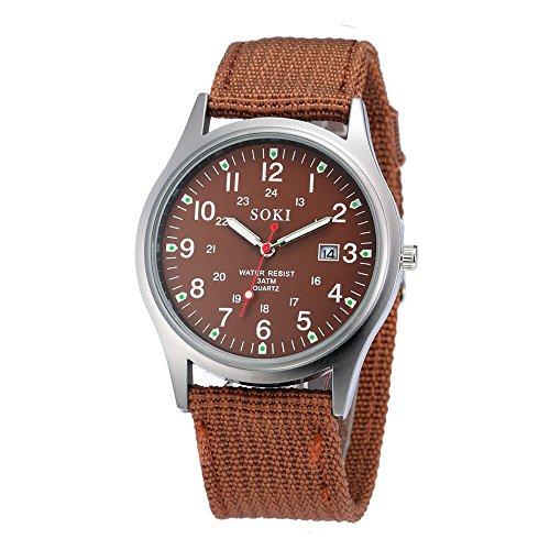 ❃ Herrenuhr Räumungsverkauf❃,Military Army Men es Date Canvas Band Stainless Steel Sport Quartz Wrist Watch COby jieGREAT