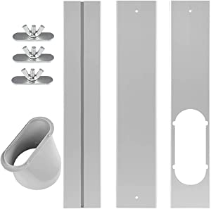 TURBRO Portable Air Conditioner Window Vent Kit, Window Slide Kit Plate for Portable Air Conditioner, Adjustable Length Portable AC Vent Kit for Exhaust Hose of 5 Inch