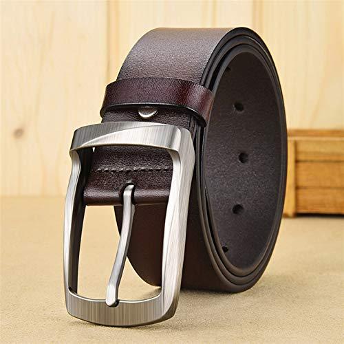 GTUQ Cinturón Negocio de Hombres Retro Cinturón de Moda Material de aleación Pin Hebilla Cinturón Tendencia Jeans Estudiante Cinturón Adecuado para Pantalones Casuales, Ropa Formal.