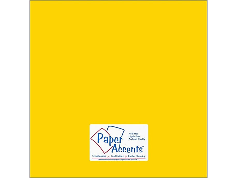 Accent Design Paper Accents StashBuild12x12 Cdstk Stash Builder 12x12 65# Daffodil