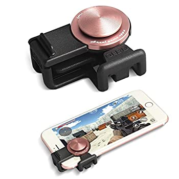 GEE·D J039 Pubg Mobile Controller Mobile Phone Joystick Gaming Controller 360°Analog Touch Screen Game Joypad Ergonomic Thumb Stick for 4.0 inch Cell Phone Game Controller Black