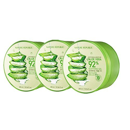 Nature Republic Soothing and Moisture Aloe Vera 92% Soothing Gel 3ea [Imported][Korean Cosmetic]