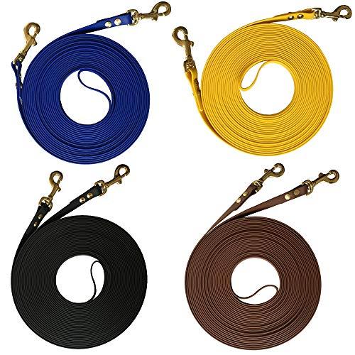 bio-leine Doppellonge aus BioThane - 16 bis 18m lang I 16mm breit - Longe Longierleine für Pferde I Pferdelonge für Reitsport I in 8 Farben