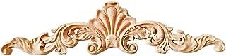 Beoot Wood Carved Corner Onlay Applique Door Cabinet Unpainted Home Furniture Decorations (40cm x 10cm)