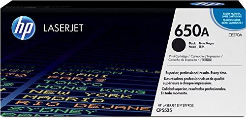 HP 650A (CE270A) Schwarz Original Toner für HP Color Laserjet Enterprise M750, HP Color Laserjet Enterprise CP5525