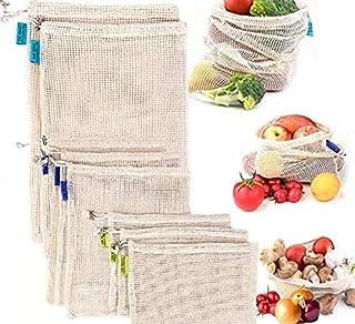Eco-friendly Cotton Mesh Bags, Reusable Produce Bags