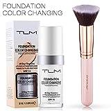 TLM 30ml Flawless Farbwechsel Concealer Abdeckung mit Make-Up Pinsel Kabuki Schminkpinsel...