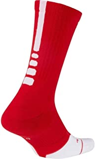 Nike Elite Crew 1.5 Team Basketball Socks Large (Men Size 8-12) University Red, White SX7035-657