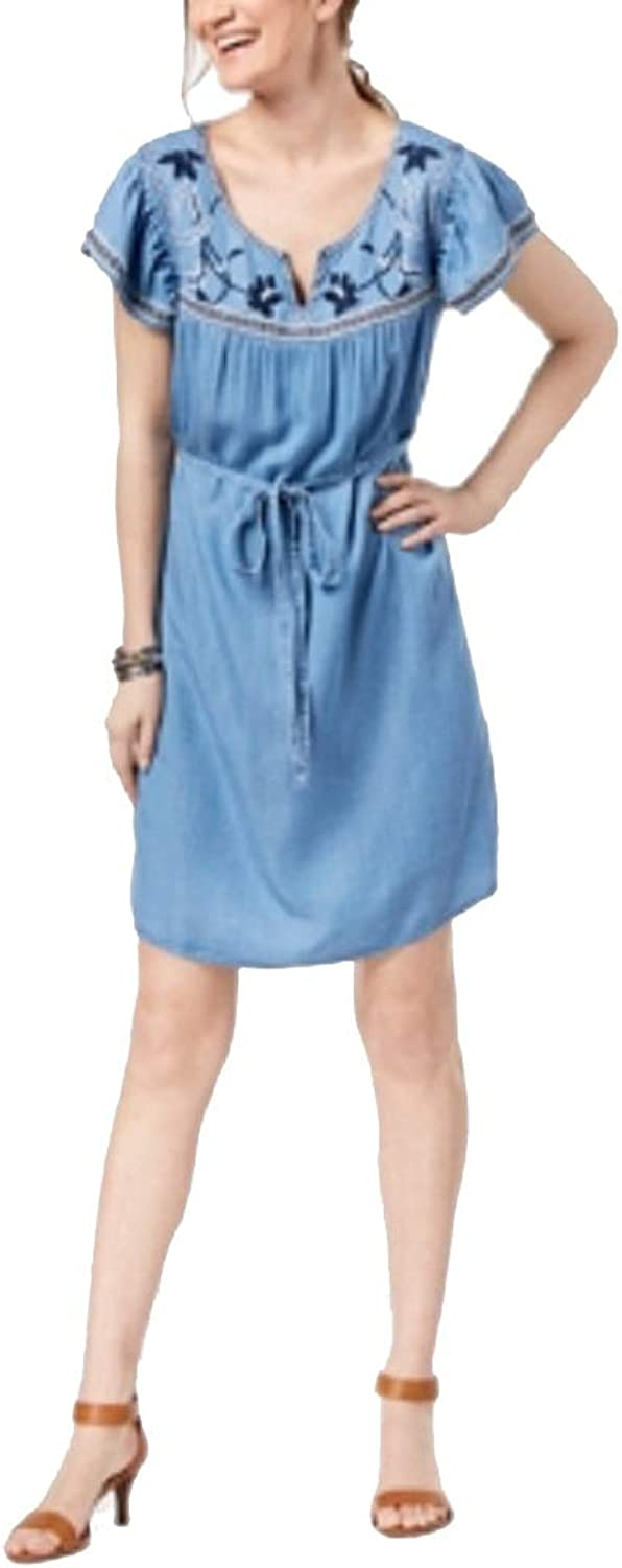 Style & Co. Petite Embroidered Peasant Dress
