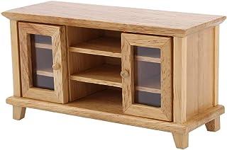 Haokaini 1:12 Scale Dollhouse Storage TV Cabinet Miniature Mini Wooden Furniture for Dollhouse Decoration