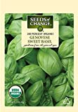 Seeds of Change S10690 Certified Organic Genovese Sweet Basil, 200 Seed Count