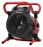 PRO-Temp 11-1/2' x 12' x 13-1/4' Fan Forced Portable Heater, Red/Black, 120VAC