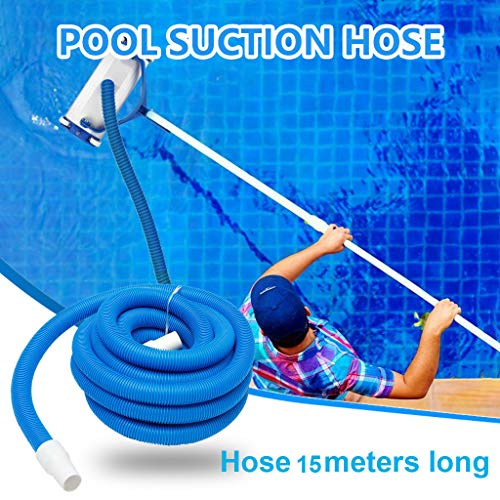 Save %18 Now! Coohole Pool Vacuum Cleaner Hose 15M Length 1.5 Inches Connector Swimming Pool Replace...