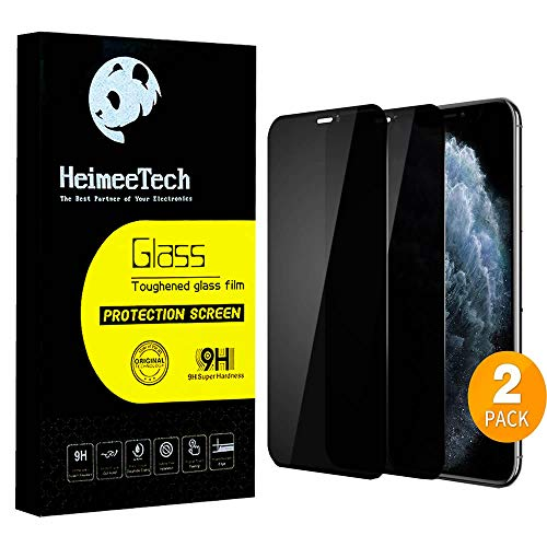 HeimeeTech Privacy Full Coverage Screen Protector for iPhone X/Xs / 11Pro,...