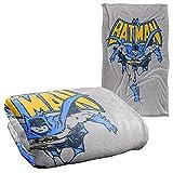 Batman Vintage Run Silky Touch Super Soft Throw Blanket 36' x 58',Vintage Run
