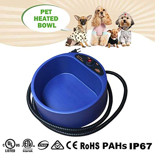 ZUOAO 35W Riscaldata Pet Bowl, Dato l'acqua e il Cibo caldo per i Vostri Cani e Gatti Durante Gita...