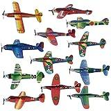 48 Avions Papier Planeurs en 12 Motifs Polystyrène | Pochettes-Surprise Jouets Avions Styrol Pinata Cadeaux | Jouet D'intérieur IDéal Pour Enfants Pour Jouer Et S'amuser Pendant Des Heures
