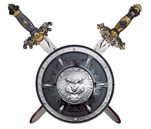 Alsino Ritterschwert mit Schild Kinder Mittelalter Krieger Set Wikinger Schwerter Fasching Karneval Plastik Kinderschwert Kostüm