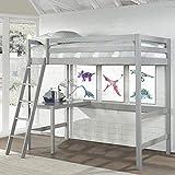 Hillsdale Furniture Caspian Twin Loft Bed, Gray
