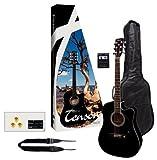 Tenson F502236 - Pack guitarra electro-acústica, color negr