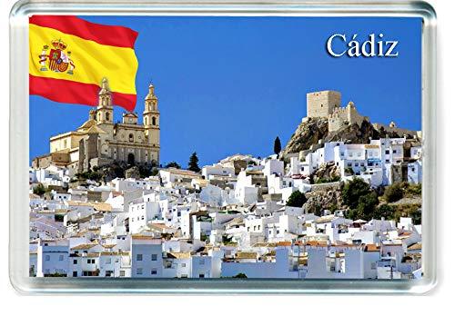 H286 Cádiz Imán para Nevera Spain Travel Fridge Magnet