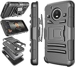 Tekcoo Moto E4 Plus Case, for 2017 Motorola Moto E Plus 4th Generation Holster Clip, [Hoplite] Shock Absorbing [Black] Swivel Locking Belt Defender Heavy Full Body Kickstand Carrying Cases Cover