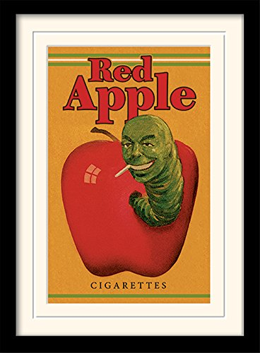 Pulp Fiction 30 x 40 cm Red Apple Cigarrillos montado y