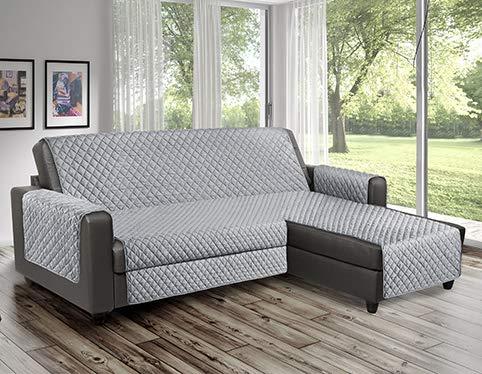 Copridivano Salvadivano reverse trapuntato è utilizzabile per divani ad Angolo con penisola sia destra che sinistra reversibile PET FRIENDLY (Perla, 2 Posti 190 cm)