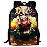 Men WomenJapanese Anime My Super Hero Academia Laptop Backpack Lightweight Laptop Backpack Fashion Daypack Durable Book Bags for Sports Outdoors Running Travel