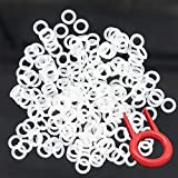200pcs Rubber O-Ring Keyboard Switch Dampeners Make Your Mechanical Keyboard Quieter with Keycap Remover Suitable for Cherry MX Key Kit Dampers 40A-L-0.2mm Reduction (Transparent)