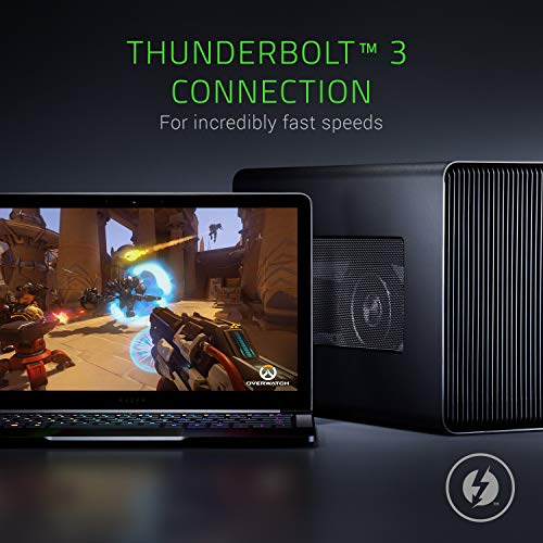 Razer Core X Externes Grafikkarten Gehäuse mit Thunderbolt 3 für Windows 10 and Mac Laptops, Schwarz