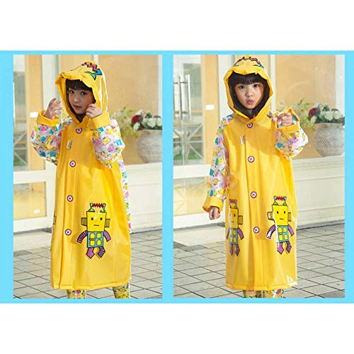 NHDYZ Regenmantel Cartoon Kinder Regenmantel Mit Kapuze Wandern Regenbekleidung Für Kinder Wasserdicht Cartoon Regen Poncho Kinder Regenmantel, D, M