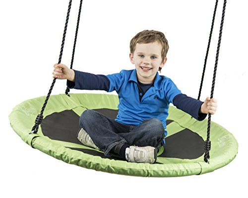 "Flying Squirrel 40"" Saucer Tree Swing - Green"