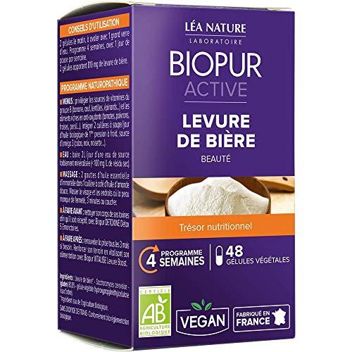 Léa Nature - BIOPUR Artive - Complément alimentaire Levure de Bière Bio - 24 g - 48 gélules
