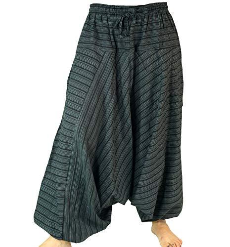Guru-Shop, Harem Pantaloni Harem Pantaloni Harem Pantaloni Harem Pantaloni Aladdin Cotone, Nero, Dimensione Indumenti:40, Harem Pantaloni Aladdin Pantaloni Aladdin