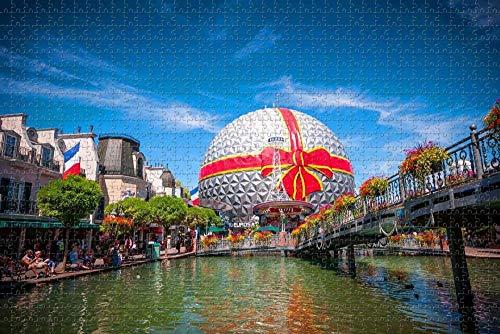 Puzzle pour Adultes Rouille Europa-Park Allemagne Puzzle 1000 pièces en Bois Voyage Souvenir Cadeau
