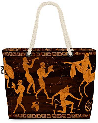 VOID La Pintura Griega Bolsa de Playa 58x38x16cm 23L Shopper Bolsa de Viaje Compras Beach Bag Bolso