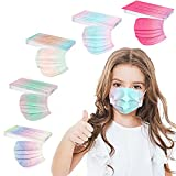 50PCS Kids Disposable Face_Mask Children 3Ply Earloop Breathable Kids Face_Mask Boys Girls Outdoor School Safety Anti Dust Cove