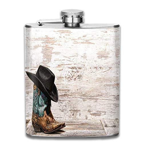 Cowboy hoed en cowgirl laarzen Flask roestvrij staal kleine Hip Flask Mens lek-proof vlag outdoor draagbare Flask voor Alcohol Whiskey Rum en wodka