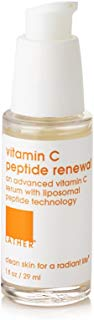 LATHER Vitamin C Peptide Renewal 1oz – lightweight, antioxidant-rich facial serum for brighter, healthier looking skin