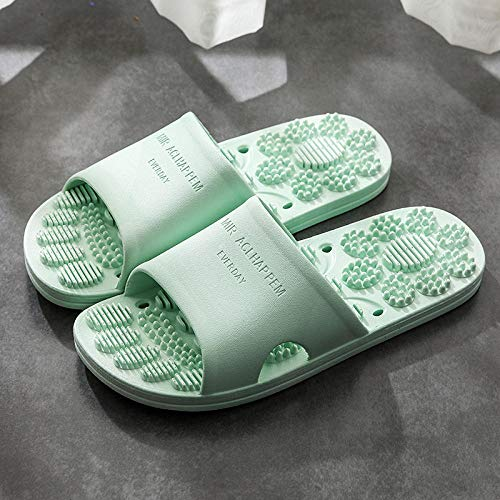 TDYSDYN Mujeres Zapatos de Piscina Chanclas de Playa,Zapatillas de Masaje Antideslizantes de baño, Sandalias de Pareja de Interior-Verde_36-37